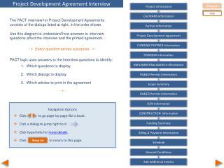 Project Development Agreement Interview