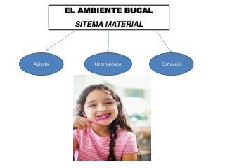 EL AMBIENTE BUCAL SITEMA MATERIAL