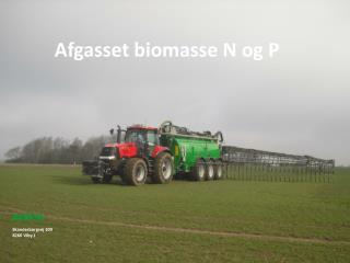 Afgasset biomasse N og P