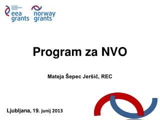 Program za NVO Mateja Šepec Jeršič, REC