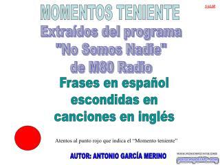 MOMENTOS TENIENTE