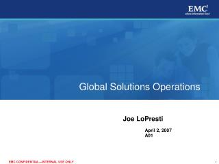 Global Solutions Operations