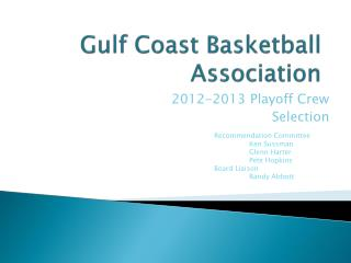 Gulf Coast Basketball Association