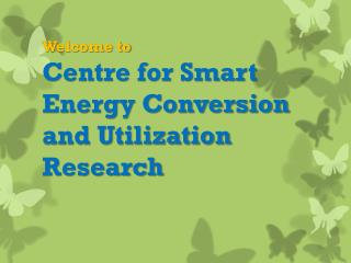 Welcome to Centre for Smart Energy Conversion and Utilization Research