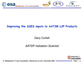 Improving the SSES inputs to AATSR L2P Products