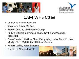 CAM WHS  Cttee