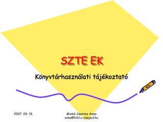 SZTE EK