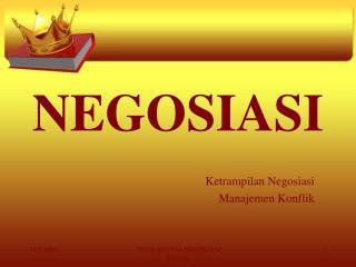 NEGOSIASI