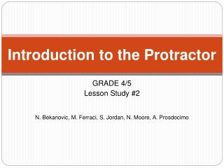 Introduction to the Protractor
