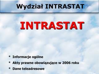 Wydział INTRASTAT