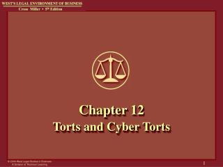 Chapter 12 Torts and Cyber Torts