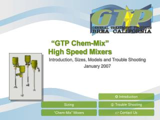 """GTP Chem-Mix"" High Speed Mixers"