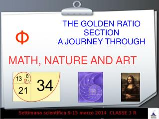 THE GOLDEN RATIO SECTION A JOURNEY THROUGH