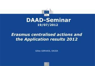 DAAD-Seminar  19/07/2012