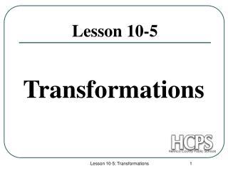 Lesson 10-5