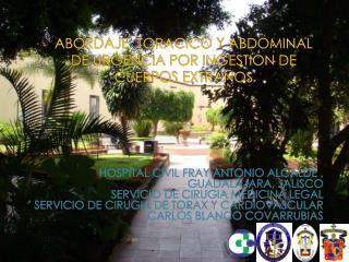 ABORDAJE  TORACICO Y ABDOMINAL  DE URGENCIA POR INGESTION DE CUERPOS EXTRAÑOS