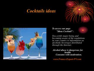 Cocktails ideas