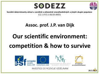 Assoc. prof. J.P. van Dijk Our scientific environment:  competition & how to survive