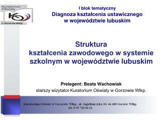 I blok tematyczny Diagnoza kształcenia ustawicznego  w województwie lubuskim