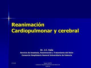 Reanimación Cardiopulmonar y cerebral
