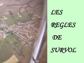 LES  REGLES  DE  SURVOL