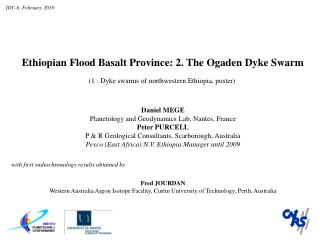 Ethiopian  Fl ood  B asalt  P rovince: 2. The Ogaden Dyke Swarm