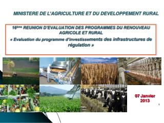 MINISTERE DE L'AGRICULTURE ET DU DEVELOPPEMENT RURAL
