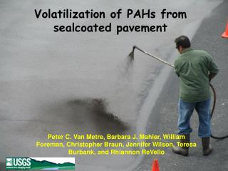 Volatilization of PAHs from sealcoated pavement