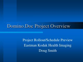 Domino.Doc Project Overview