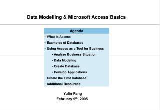 Data Modelling  Microsoft Access Basics