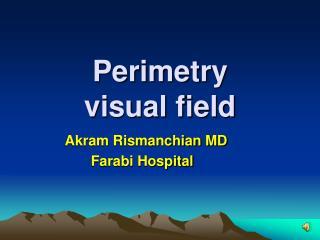Perimetry  visual field