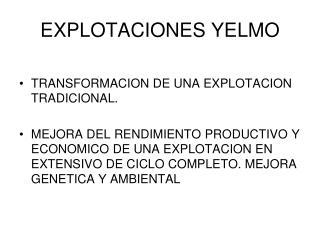 EXPLOTACIONES YELMO