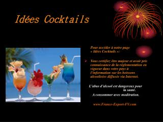 Idées Cocktails