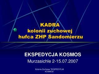 KADRA kolonii zuchowej  hufca ZHP Sandomierzu