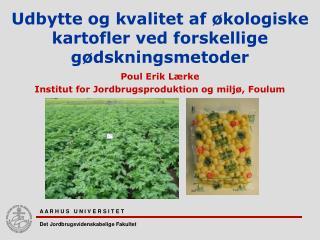 Udbytte og kvalitet af økologiske kartofler ved forskellige gødskningsmetoder