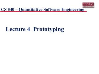Lecture 4  Prototyping