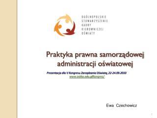 Praktyka prawna samorządowej administracji oświatowej