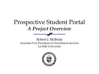 Prospective Student Portal A Project Overview