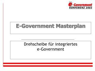 E-Government Masterplan