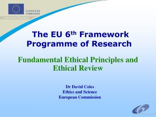The EU 6th Framework Programme of Research