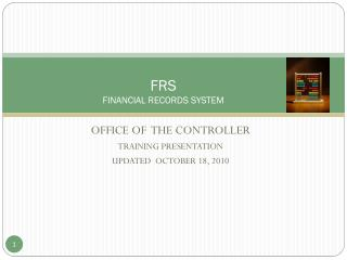 FRS FINANCIAL RECORDS SYSTEM