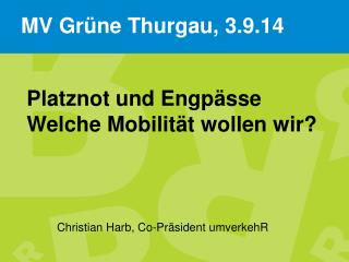 Christian Harb, Co-Präsident umverkehR