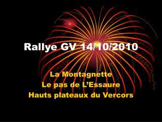 Rallye GV 14/10/2010