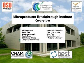 Microproducts Breakthrough Institute Overview