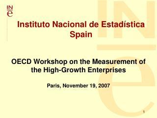 Instituto Nacional de Estadística Spain