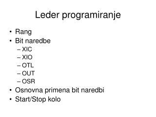 Leder programiranje