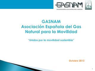 """GASNAM Asociación Española del Gas Natural para la Movilidad """"Unidos por la movilidad sostenible"""""""