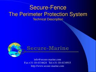 Secure-Fence The Perimeter Protection System Technical Description