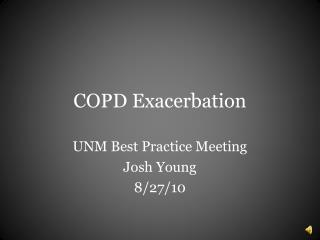 COPD Exacerbation