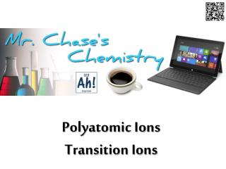 Polyatomic Ions Transition Ions